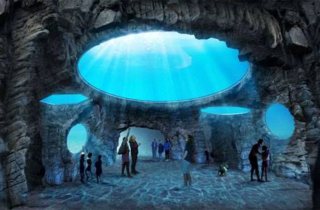 Photo 4: The Grand Aquarium in Auqa City with the world's largest dome skylights