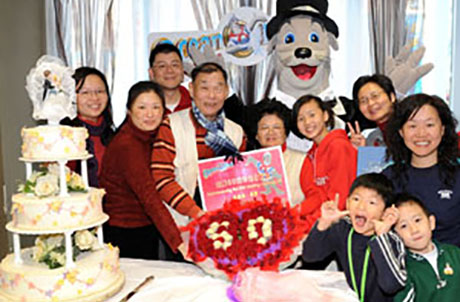 Picture two: Ocean Park's Whiskers, friends and relatives of Mr. & Mrs. Choy joined together to celebrate their 50th anniversary.